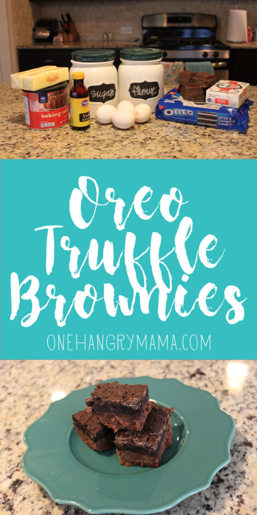 Oreo Truffle Brownies from One Hangry Mama