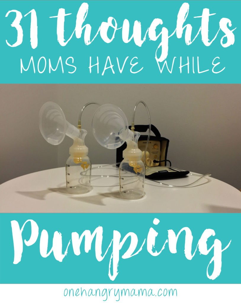 Pumping is one of the hardest parts of being a working mom. You're not alone in your crazy thoughts! #breastfeeding #pumpingmom #workingmom