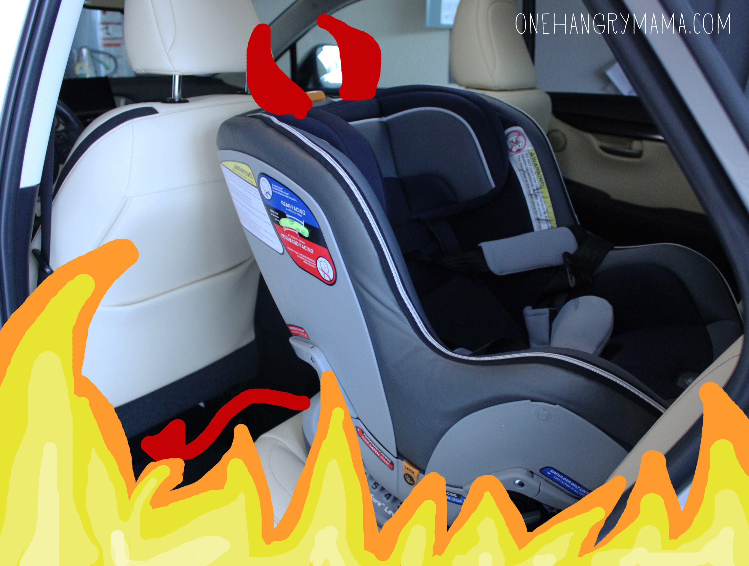 Car Seats are the Devil's Handiwork | One Hangry Mama