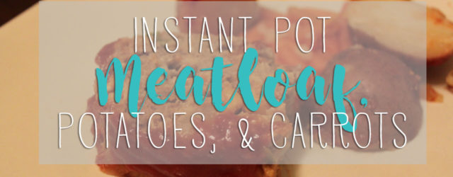This one-pot meatloaf with potatoes & carrots in the Instant Pot is so simple!