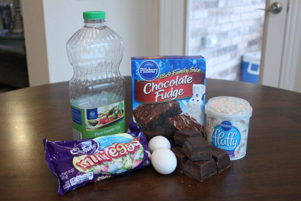 Cadbury Egg Marshmallow Brownies   One Hangry Mama