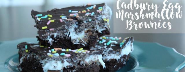 Cadbury Egg Marshmallow Brownies | One Hangry Mama