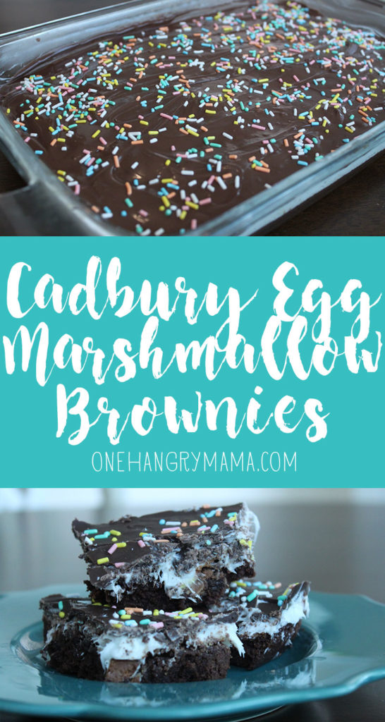 These Cadbury Mini Egg Brownies with marshmallow frosting are the perfect Easter treat!