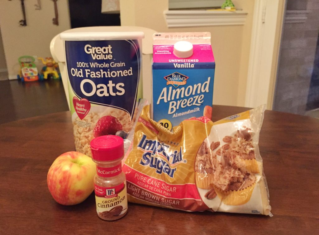Ingredients for Instant Pot Apple Cinnamon Oatmeal | One Hangry Mama