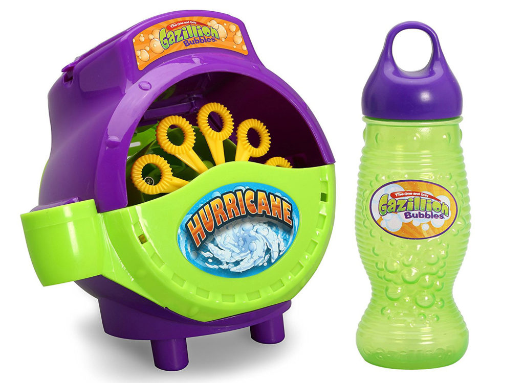 Toddlers love bubbles, so a bubble machine is a perfect gift idea for 12-18 month olds.
