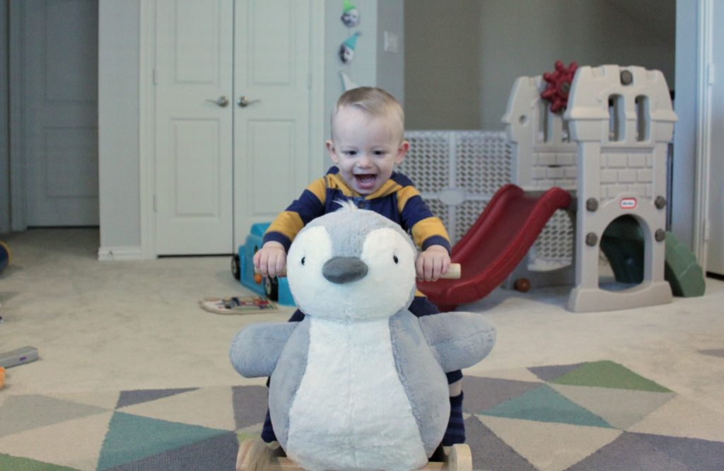 This Pottery Barn Kids Penguin Rocker is a great 12-18 month old gift.