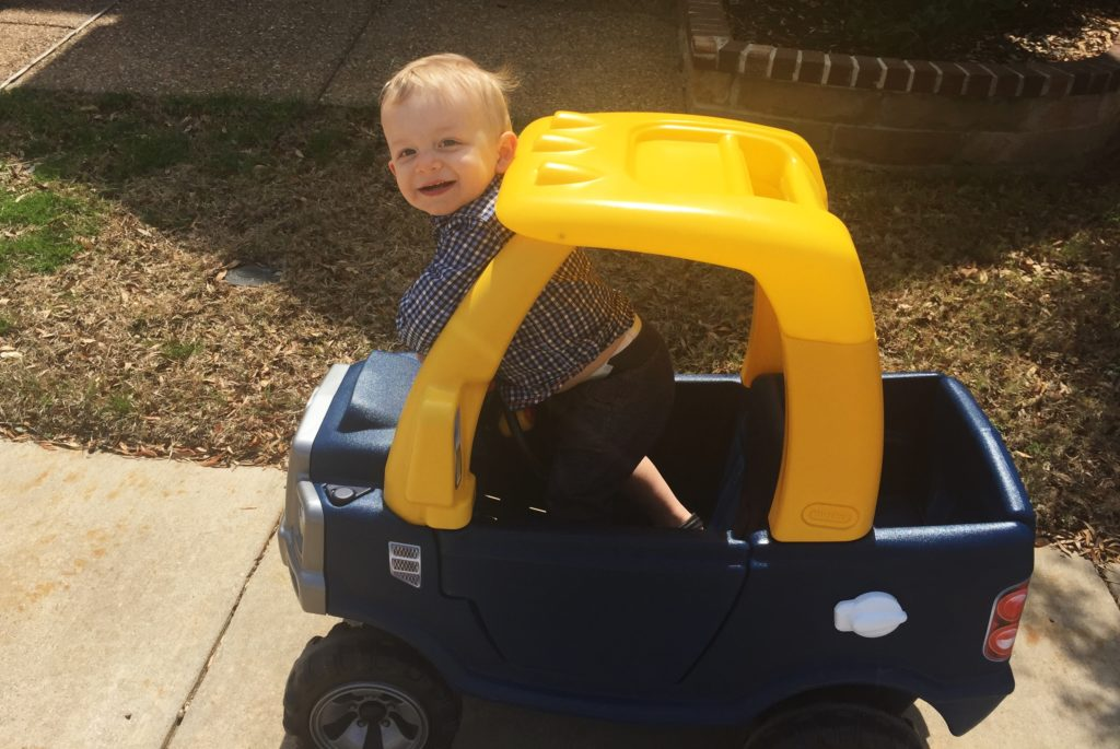 The Little Tikes Cozy Truck is a great gift idea for 12-18 month olds.