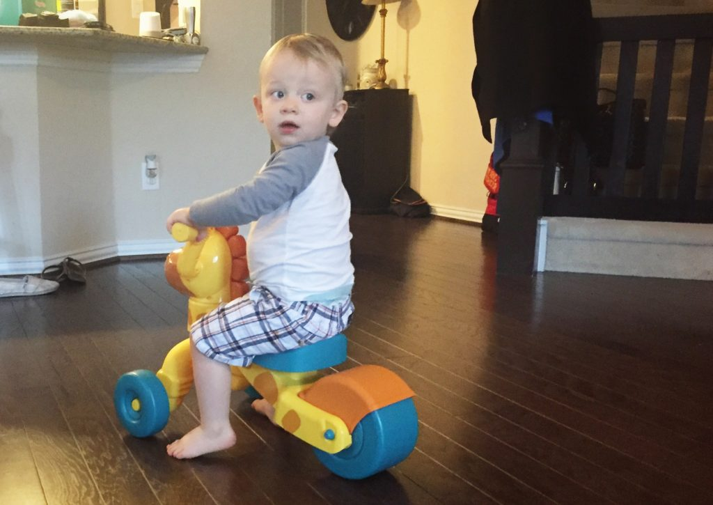 This Little Tikes Giraffe Ride-On bike is a fun gift for a 12-18 month old toddler.
