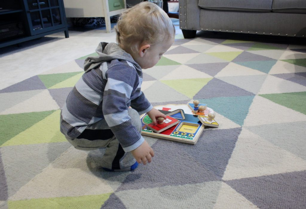 Puzzles are a great, educational gift for a 12-18 month old toddler.