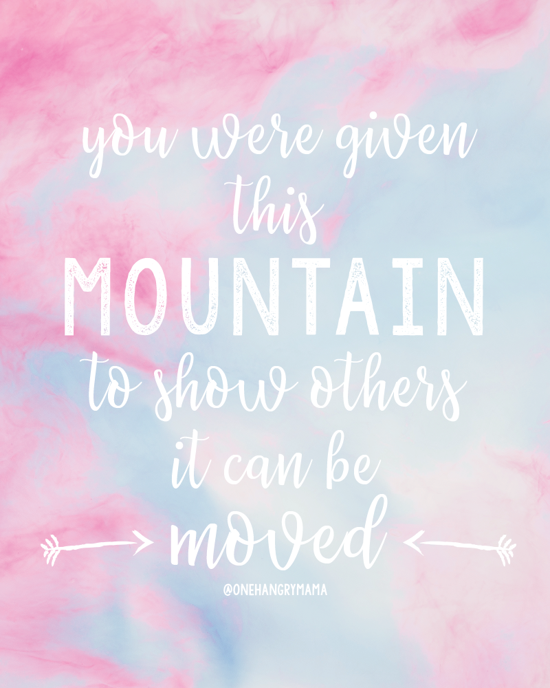 Infertility will tear you down, if you let it. But find your support, find your motivation to keep going, because you got this. Move that mountain!