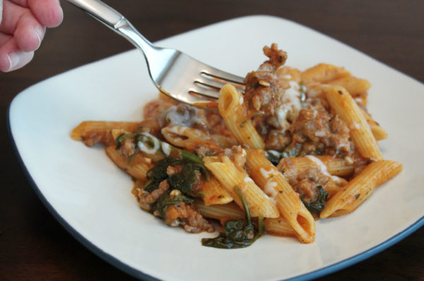 This Instant Pot Italian Sausage Penne is a delicious, fast, easy meal with only 8 ingredients.