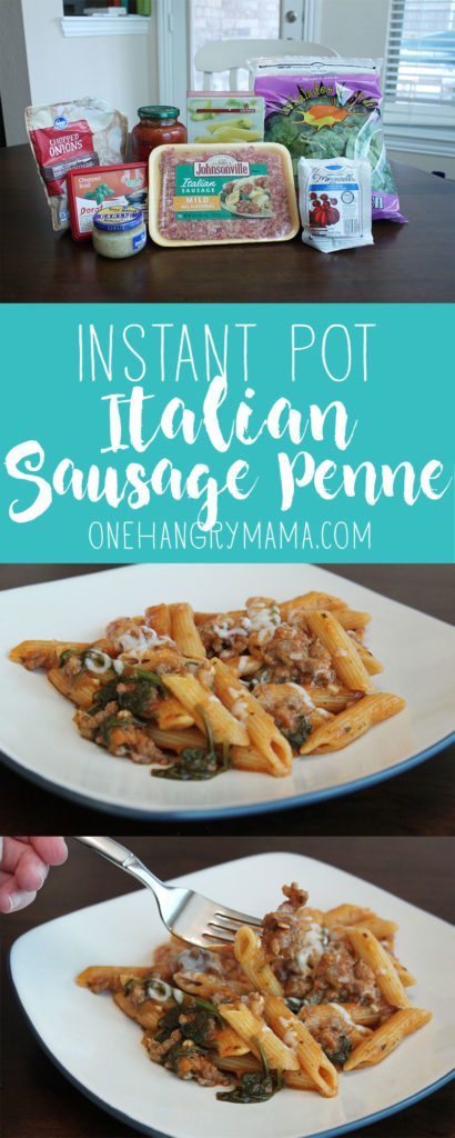 35 minutes and 8 ingredients is all you need to make this fast, easy Italian Sausage Penne in the Instant Pot.