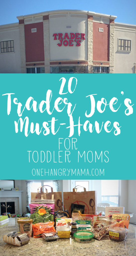 20 things you HAVE to get at Trader Joe's if you're Toddler Mom! Toddler-friendly snacks and meals, plus mom-necessities to survive the day with a toddler.