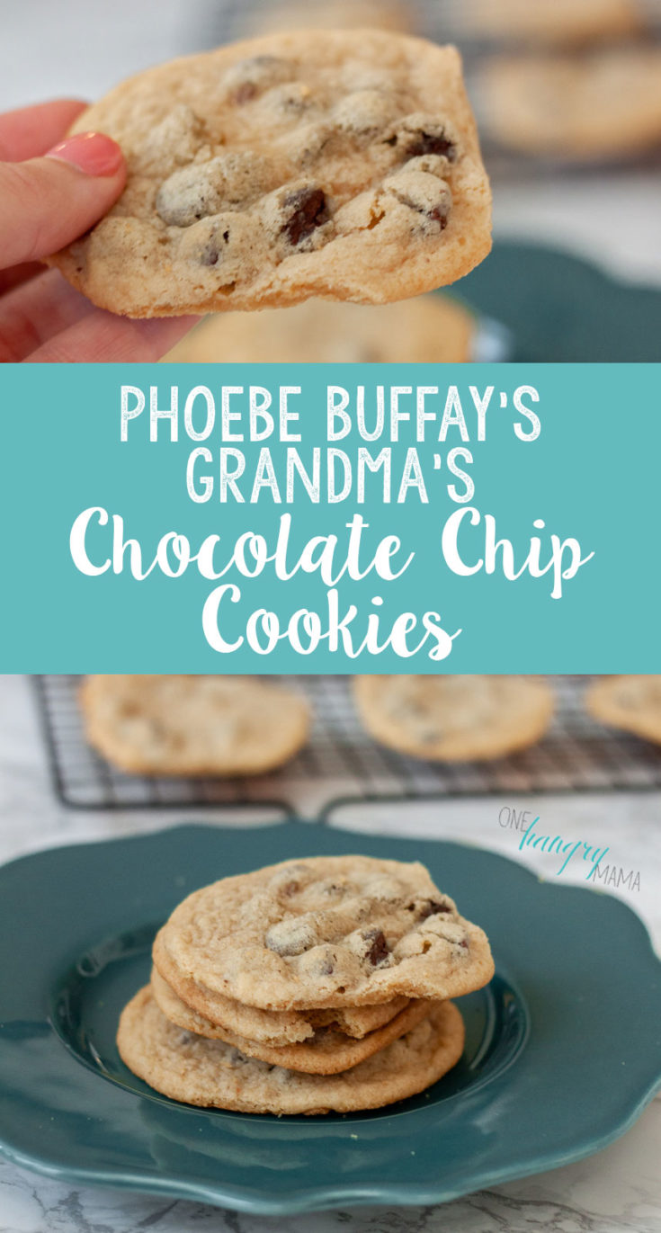 Phoebe Buffay's Grandma's Cookies are a CLASSIC chocolate chip cookie recipe! They're totally foolproof, and use only basic pantry staples – you probably have everything you need to whip up a batch of these. That means you could be eating chocolate chip cookies in just 30 minutes!