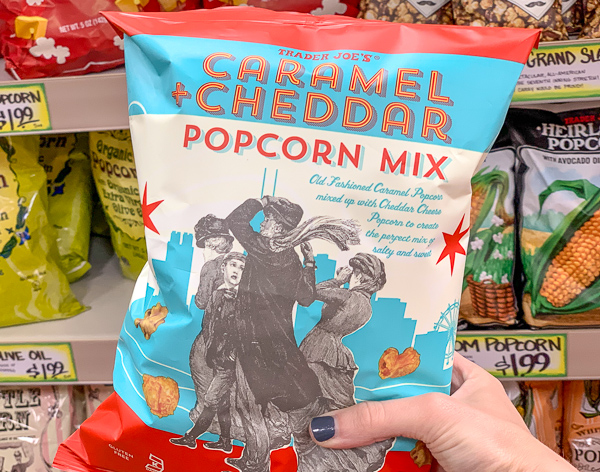 The Best Trader Joe's Items for Toddler Moms: Caramel Cheddar Popcorn Mix