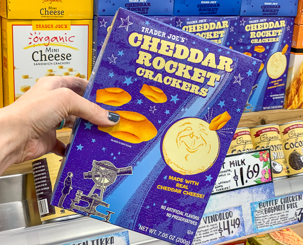The Best Trader Joe's Items for Toddler Moms: Cheddar Rocket Crackers