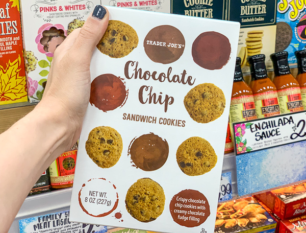 The Best Trader Joe's Items for Toddler Moms: Chocolate Chip Sandwich Cookies