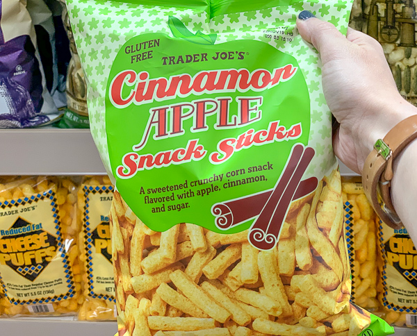 The Best Trader Joe's Items for Toddler Moms: Cinnamon Apple Snack Sticks