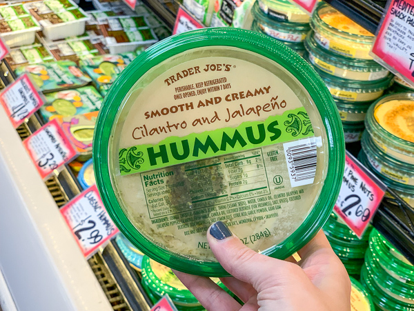 The Best Trader Joe's Items for Toddler Moms: Cilantro Jalapeno Hummus