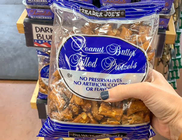 The Best Trader Joe's Items for Toddler Moms: Peanut Butter Filled Pretzels