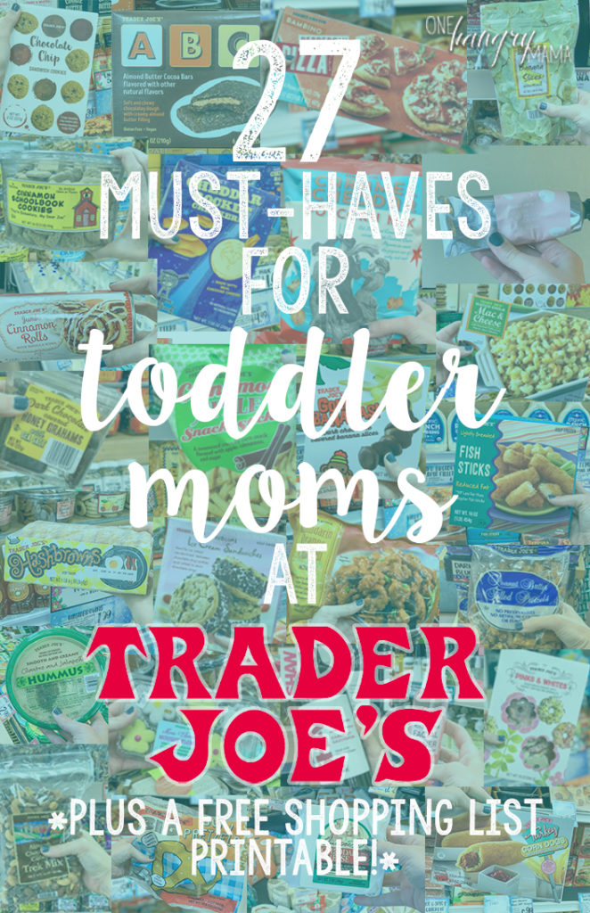 27 Must-Haves for Toddler Moms at Trader Joe's - all the best items that all moms NEED at Trader Joe's – from snacks, to meals, to beauty, to WINE, this list of Trader Joe's favorites has it you covered and your family covered!