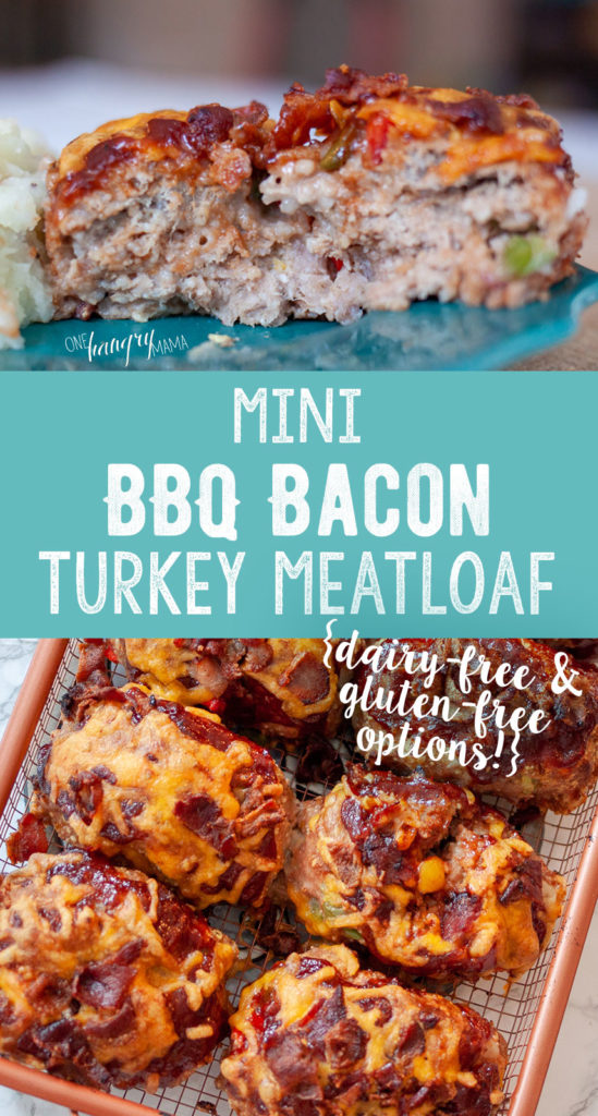 Mini BBQ Bacon Turkey Meat Loaves - An ACTUAL 30 minute meal that your whole family will love. Easily adaptable to be gluten free and dairy free!