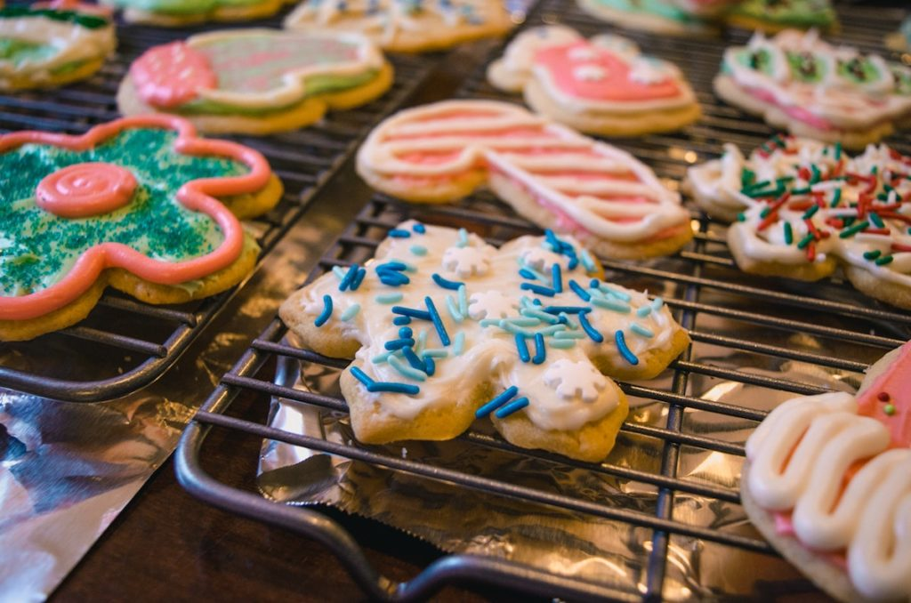 Easy Christmas Traditions for Toddlers -  delivering Christmas cookies to your neighbors