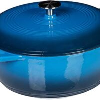 AmazonBasics Enameled Cast Iron Covered Dutch Oven