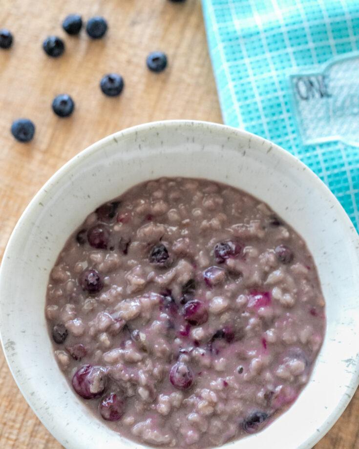 Instant Pot Blueberry Vanilla Oatmeal