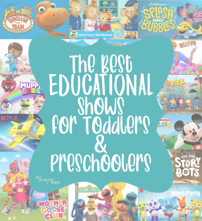 It can be hard to find the best educational shows for toddlers and preschoolers, but this list is a great place to start!