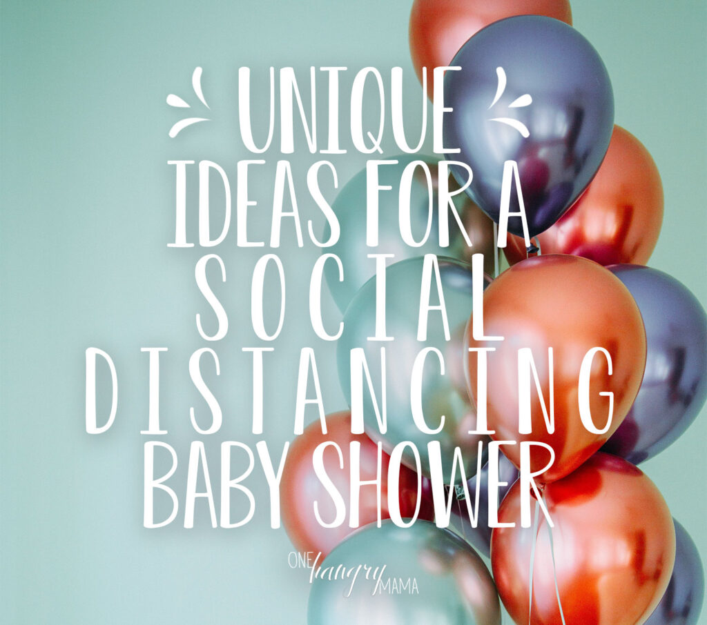 In the year of the pandemic, hosting a baby shower is challenging... but not impossible! These unique ideas are great to help host a social distancing baby shower that's fun AND safe.