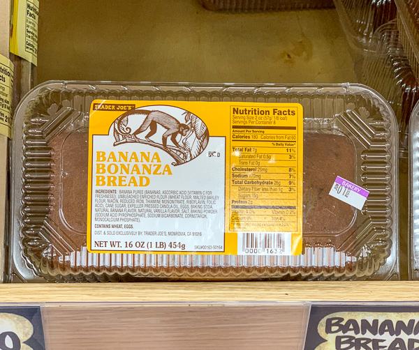 Trader Joe's Banana Bonanza Bread