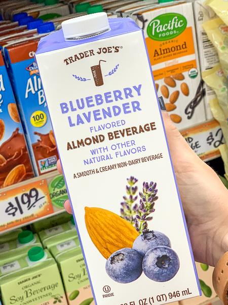 Dairy Free Trader Joe's Blueberry Lavender Almond Milk