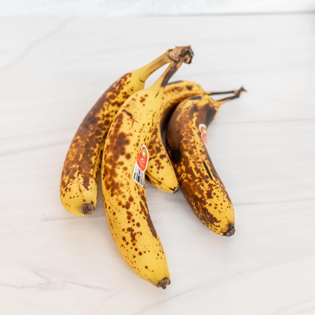 Overripe bananas, perfect for Dairy-Free Banana Bread!